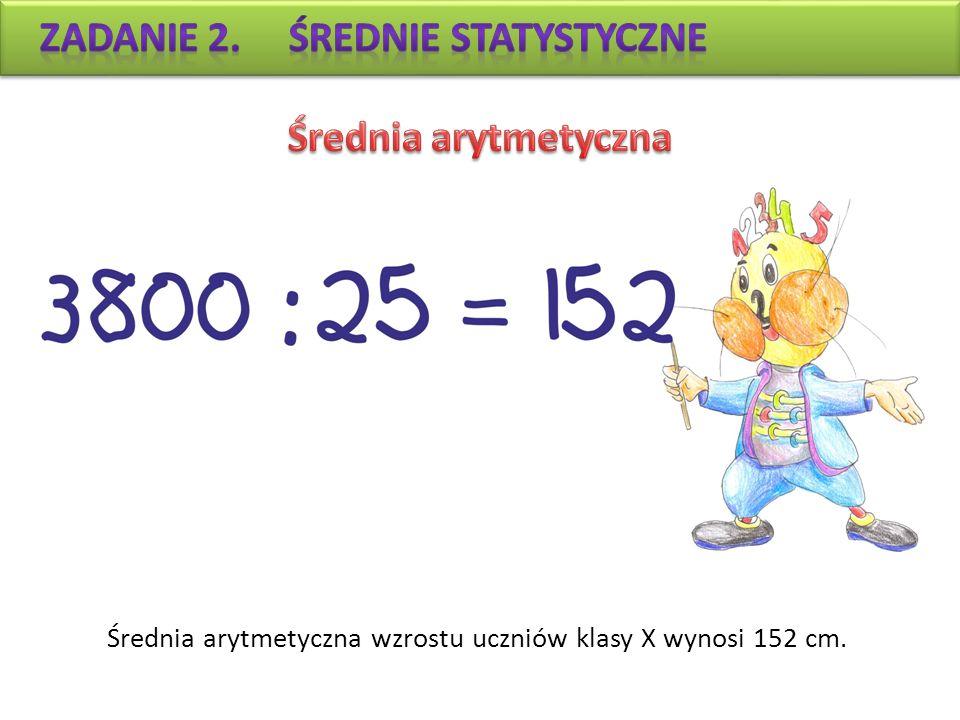 Zadanie 2. Średnie statystyczne