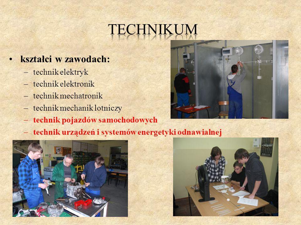 TECHNIKUM kształci w zawodach: technik elektryk technik elektronik