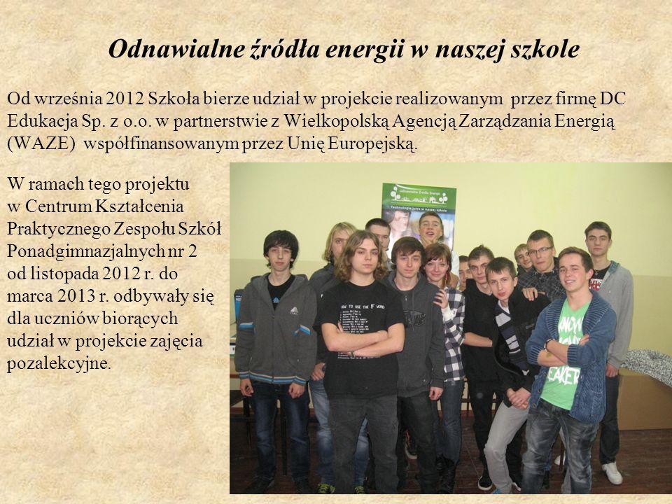Odnawialne źródła energii w naszej szkole