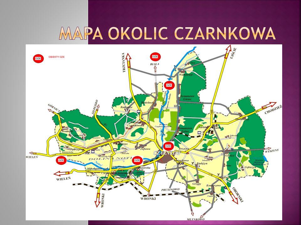 Mapa Okolic Czarnkowa