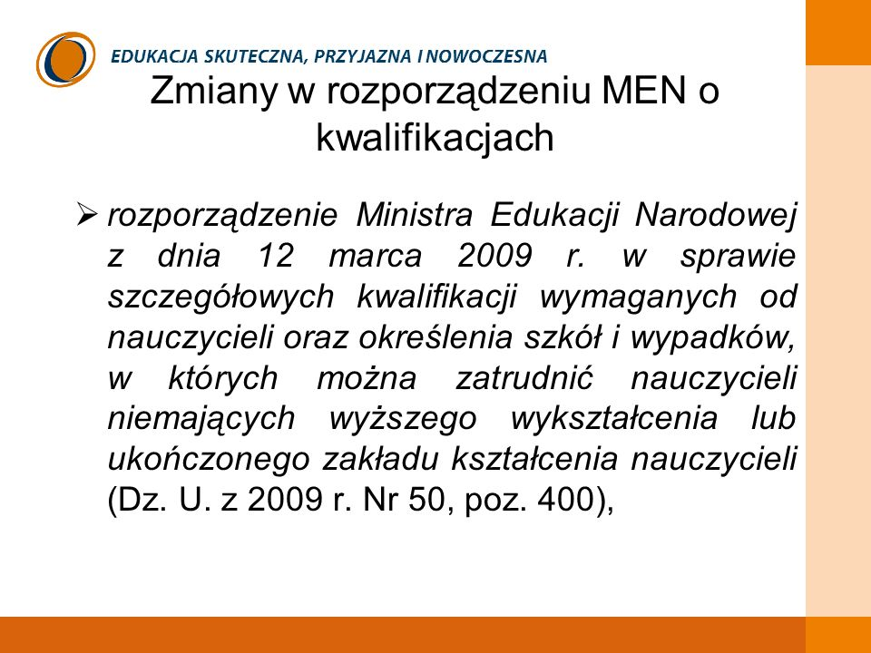 Zmiany w rozporządzeniu MEN o kwalifikacjach