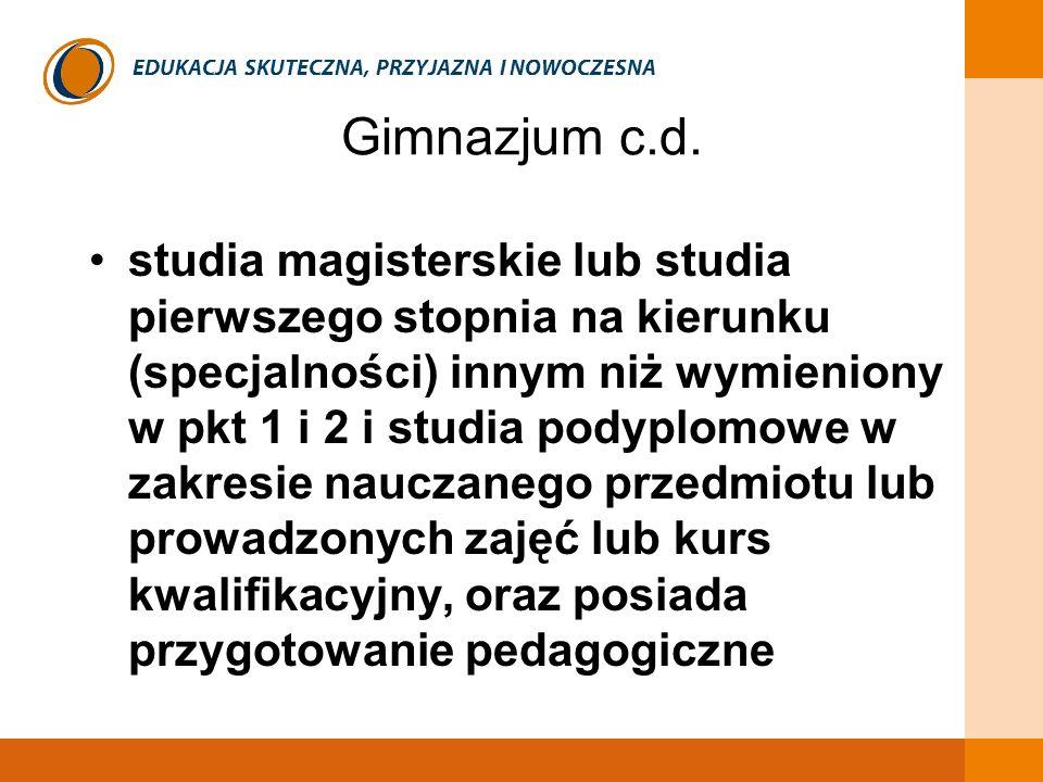 Gimnazjum c.d.