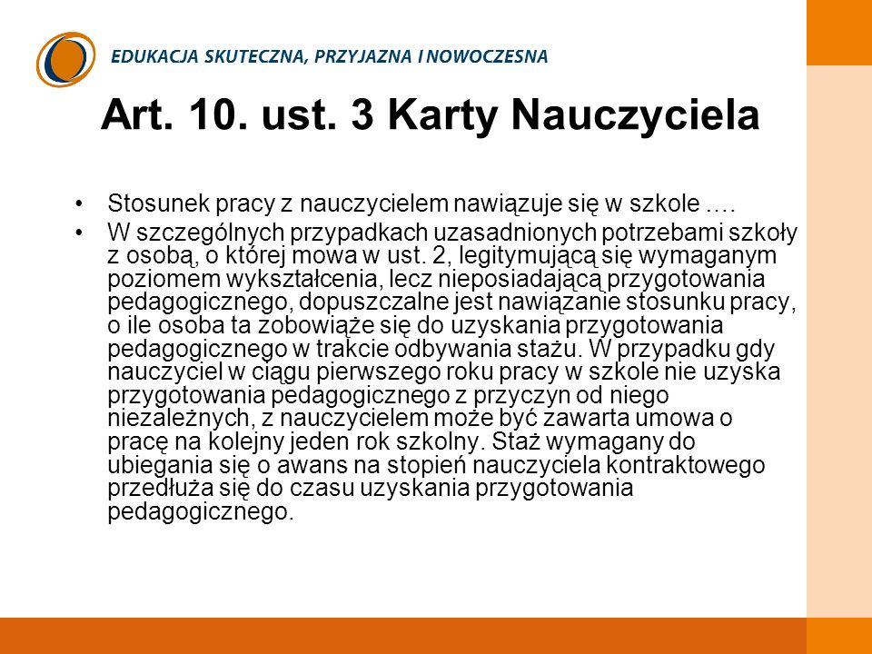 Art. 10. ust. 3 Karty Nauczyciela