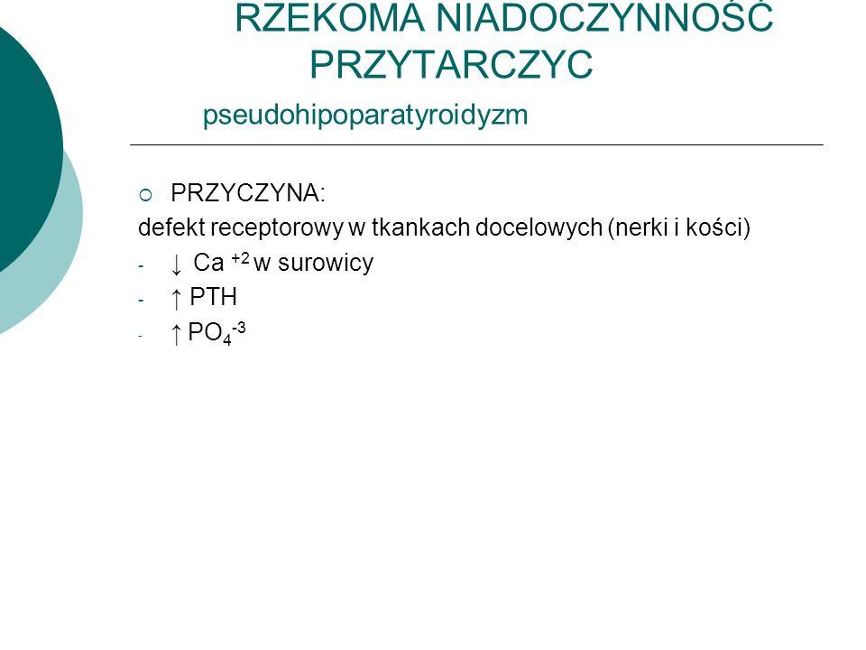 RZEKOMA NIADOCZYNNOŚĆ PRZYTARCZYC pseudohipoparatyroidyzm