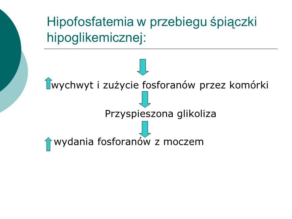 Hipofosfatemia w przebiegu śpiączki hipoglikemicznej: