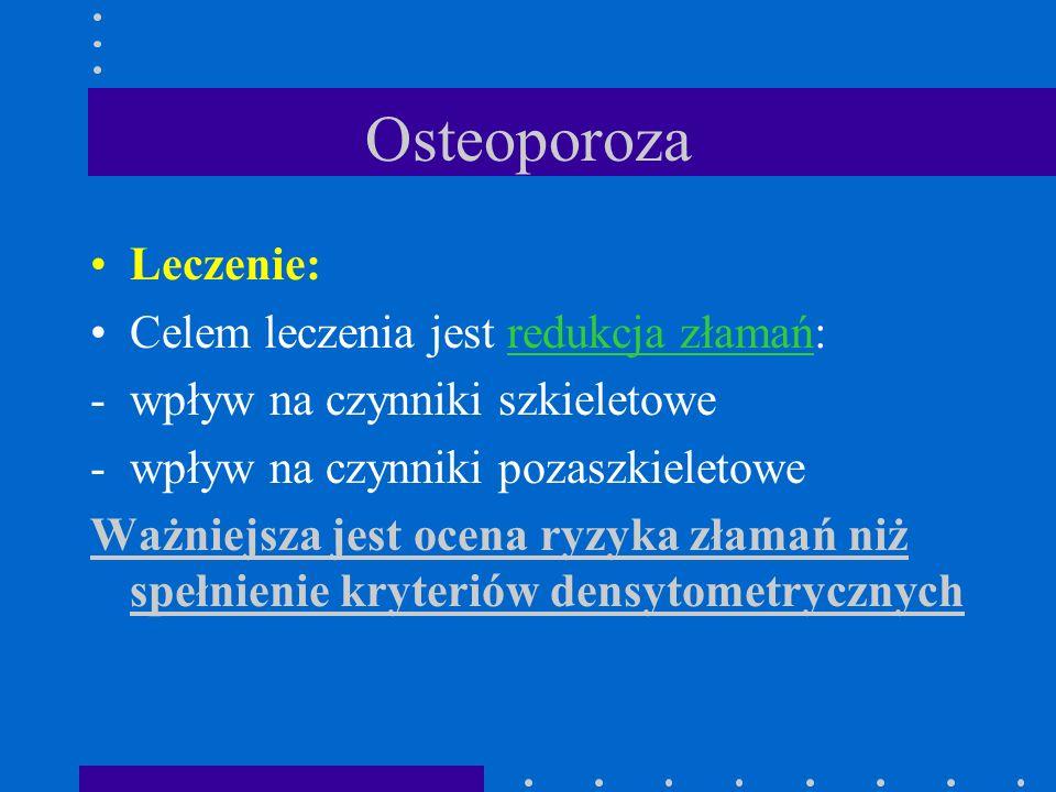 Osteoporoza Leczenie: Celem leczenia jest redukcja złamań: