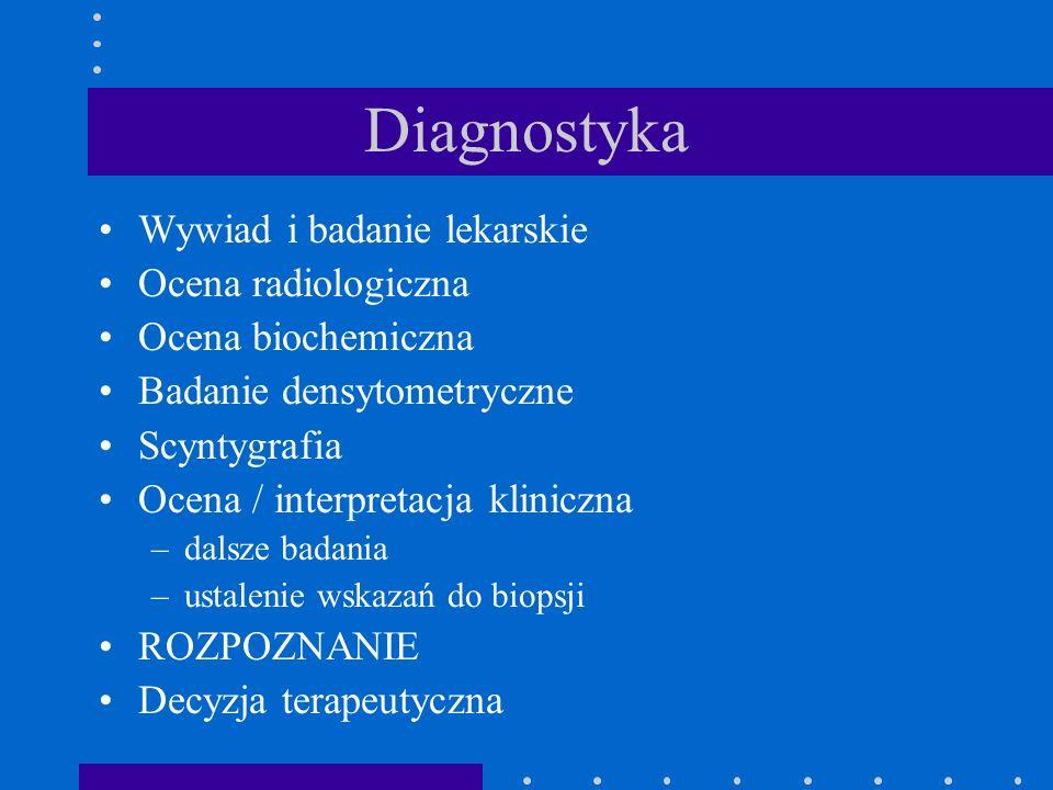Diagnostyka Wywiad i badanie lekarskie Ocena radiologiczna