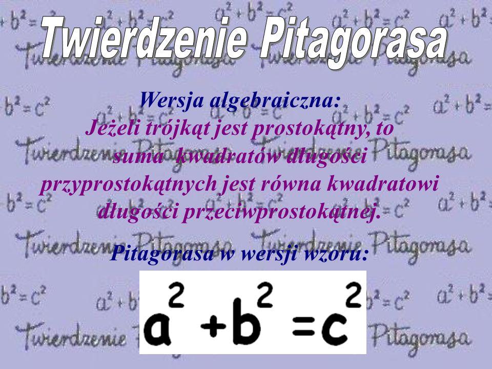 Pitagorasa w wersji wzoru: