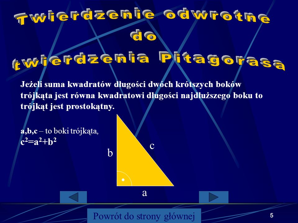 twierdzenia Pitagorasa