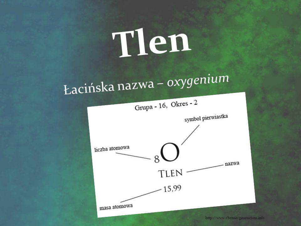 Łacińska nazwa – oxygenium
