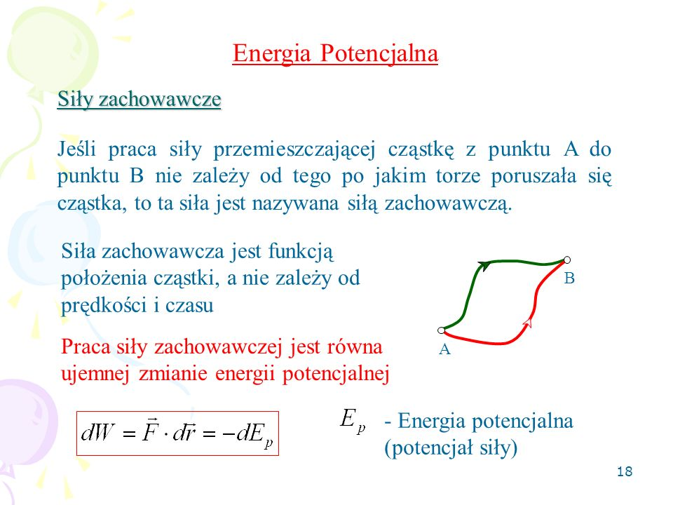 Energia Potencjalna Siły zachowawcze