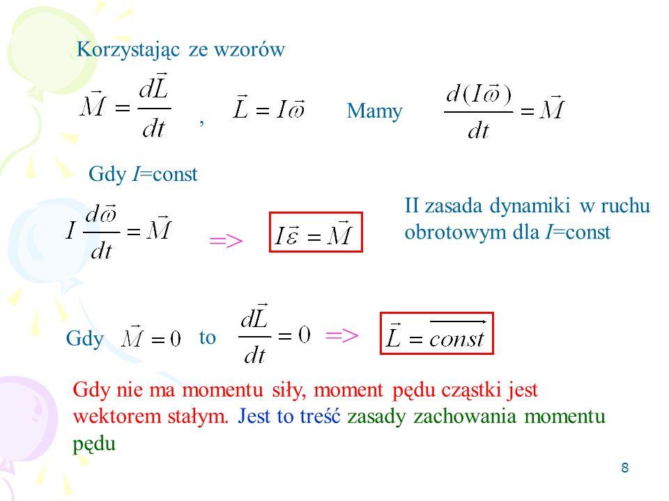 => => Korzystając ze wzorów Mamy , Gdy I=const
