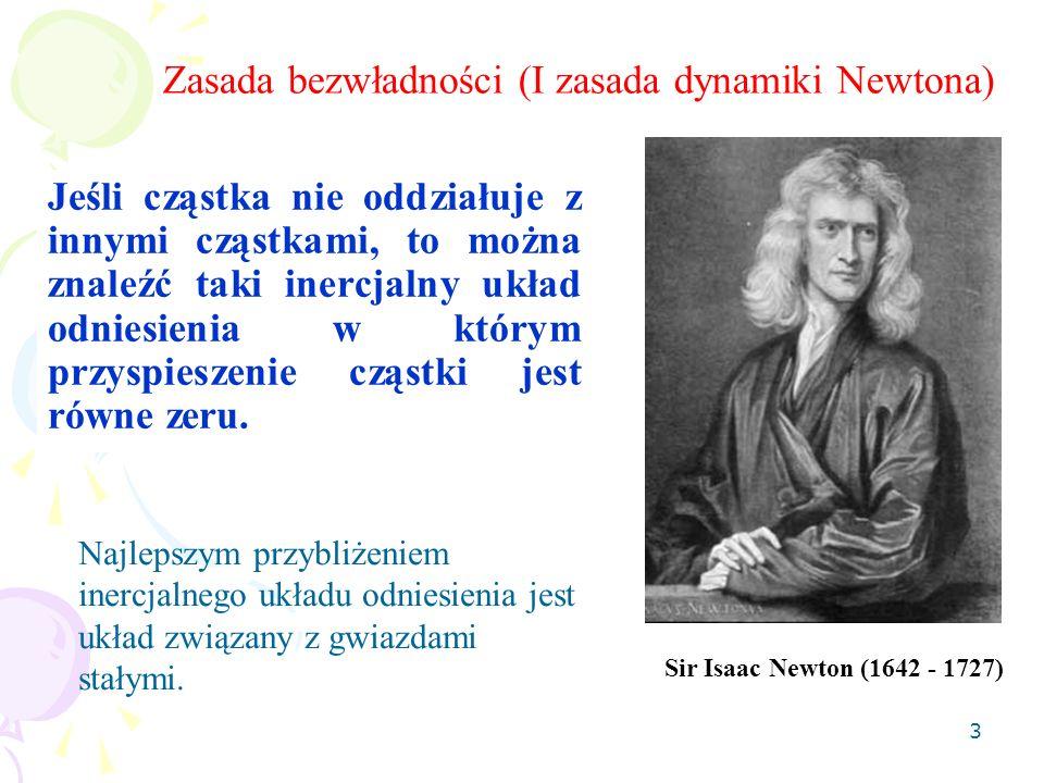 Zasada bezwładności (I zasada dynamiki Newtona)