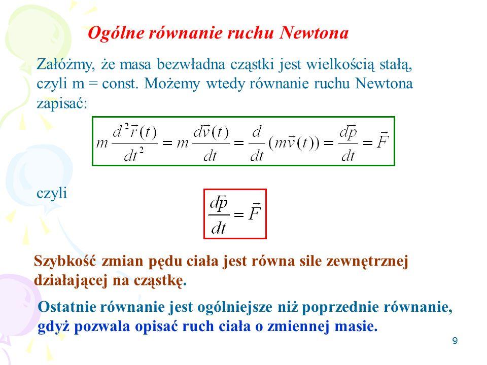 Ogólne równanie ruchu Newtona
