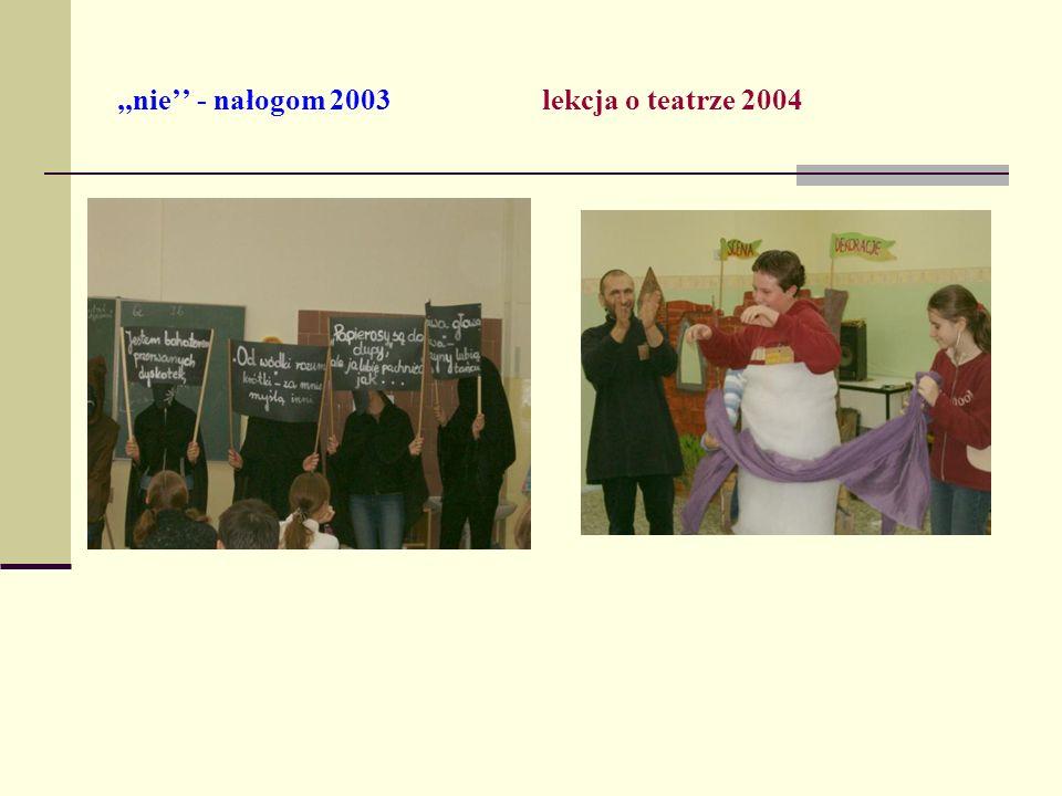 ,,nie'' - nałogom 2003 lekcja o teatrze 2004