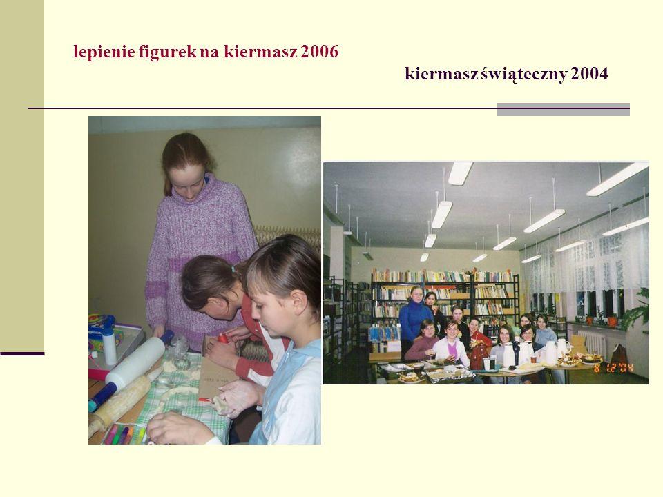 lepienie figurek na kiermasz 2006 kiermasz świąteczny 2004