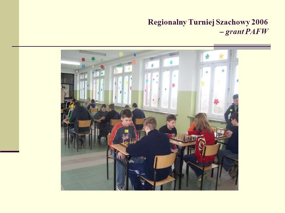 Regionalny Turniej Szachowy 2006 – grant PAFW