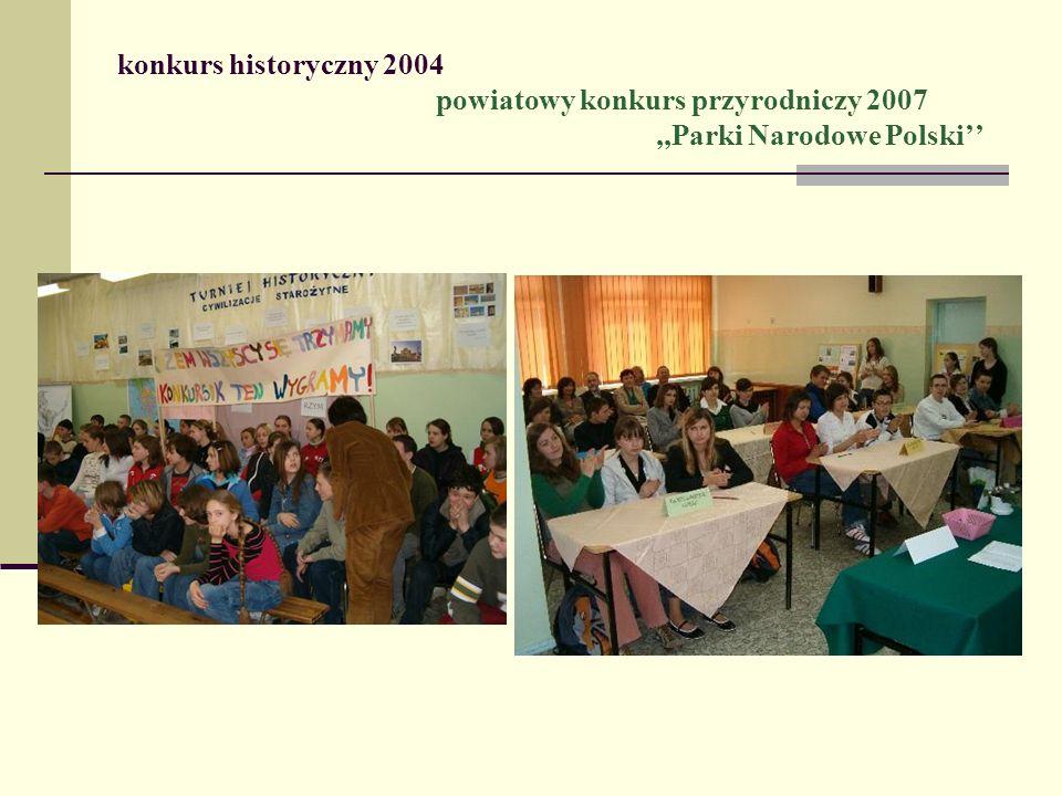 konkurs historyczny 2004. powiatowy konkurs przyrodniczy 2007
