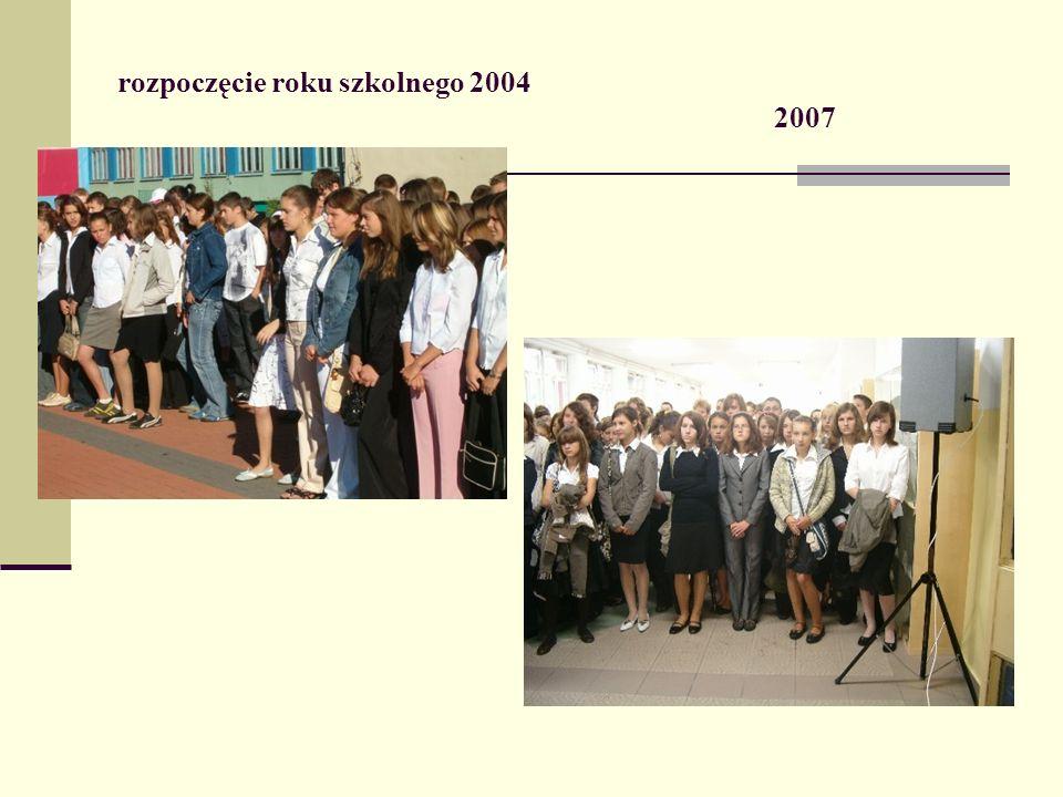rozpoczęcie roku szkolnego 2004 2007