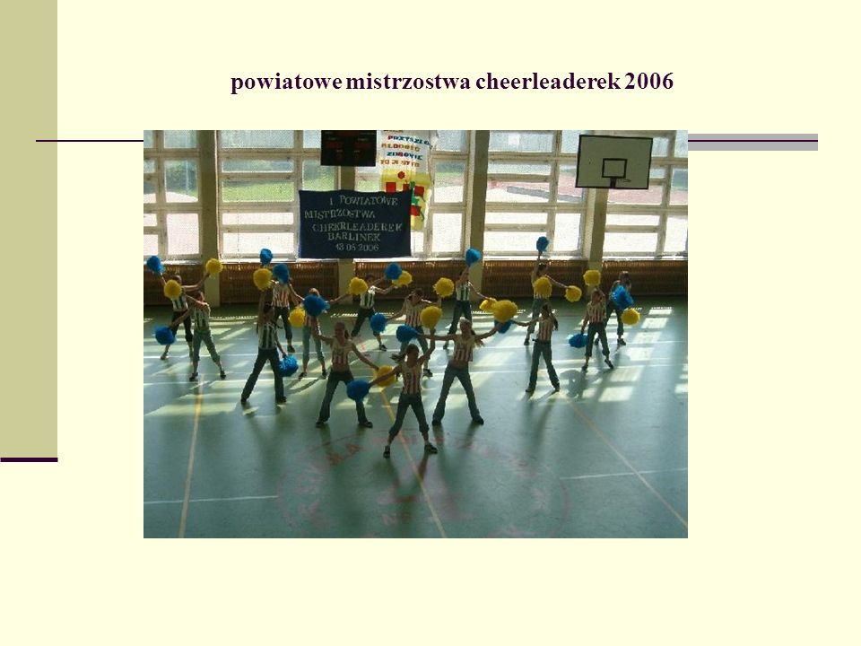 powiatowe mistrzostwa cheerleaderek 2006