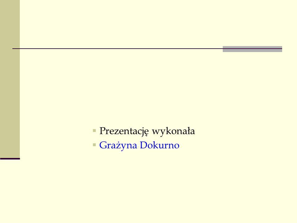 Prezentację wykonała Grażyna Dokurno