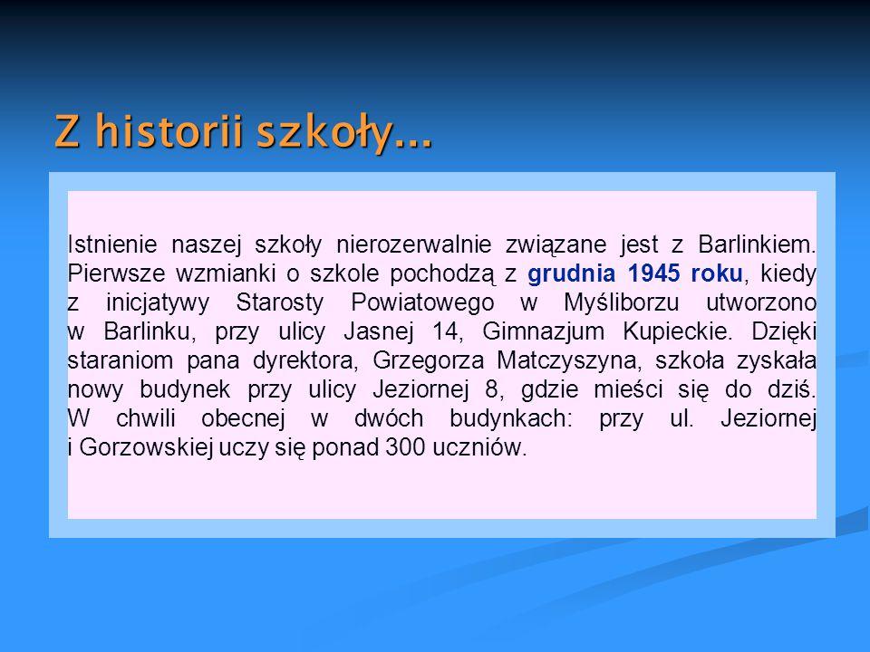 Z historii szkoły...