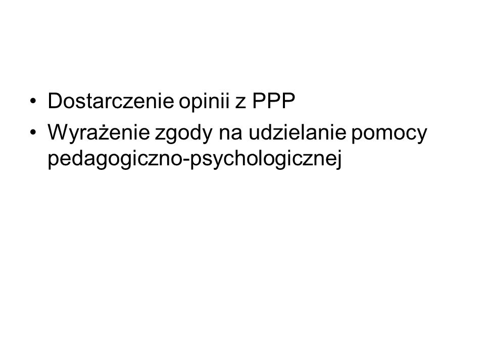 Dostarczenie opinii z PPP