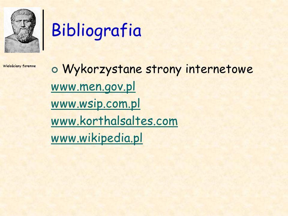 Bibliografia Wykorzystane strony internetowe www.men.gov.pl