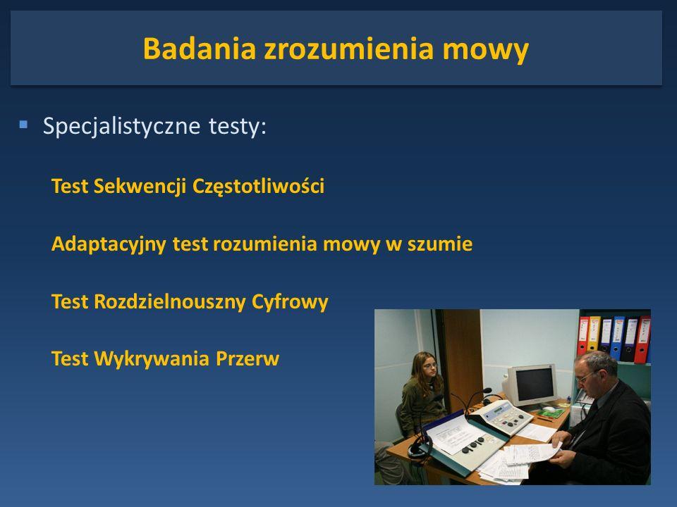 Badania zrozumienia mowy