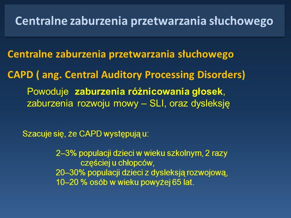 Centralne zaburzenia przetwarzania słuchowego