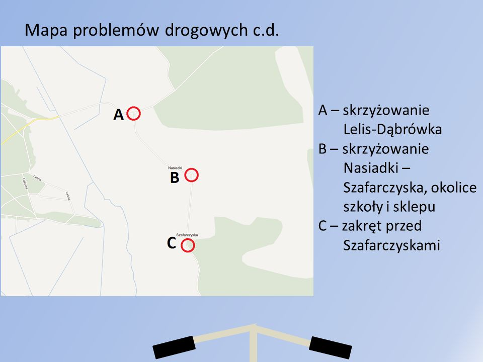Mapa problemów drogowych c.d.