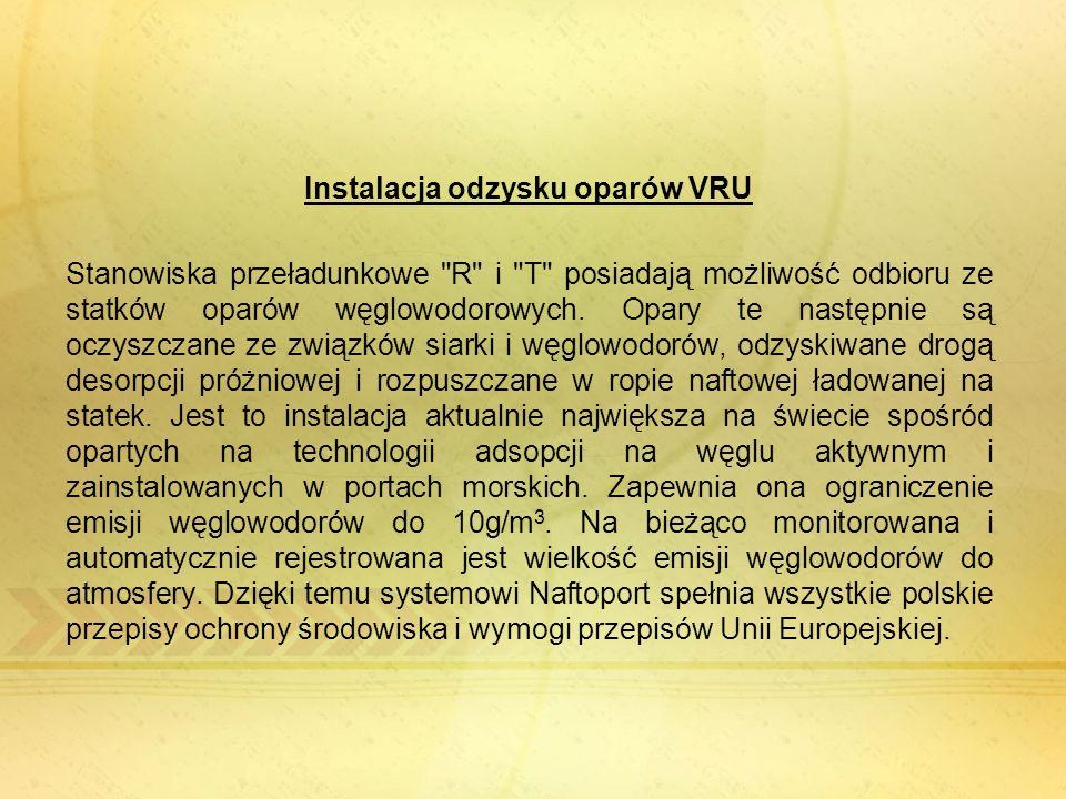 Instalacja odzysku oparów VRU