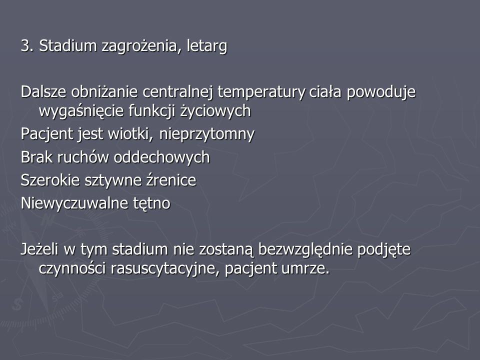 3. Stadium zagrożenia, letarg