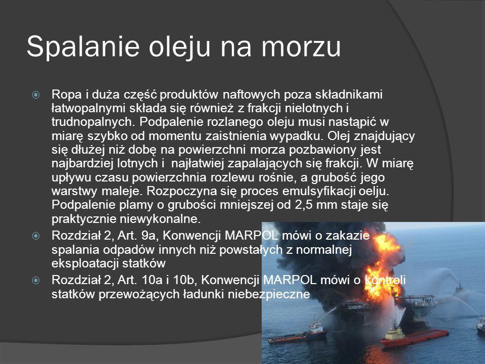 Spalanie oleju na morzu