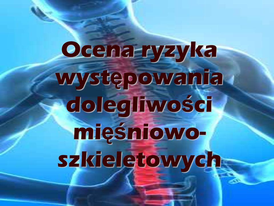 Ocena ryzyka występowania dolegliwości mięśniowo-szkieletowych