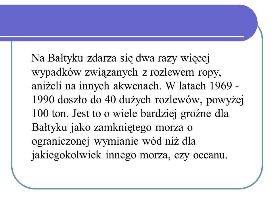 Na Bałtyku zdarza się dwa razy więcej wypadków związanych z rozlewem ropy, aniżeli na innych akwenach.