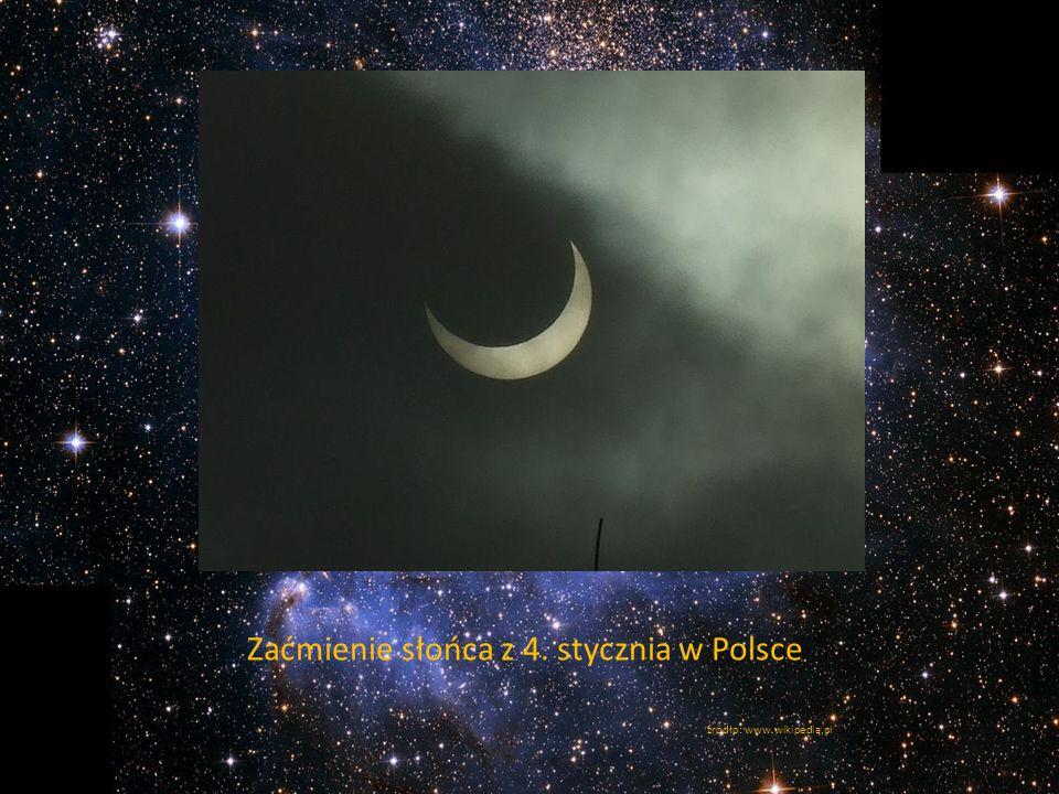 Zaćmienie słońca z 4. stycznia w Polsce