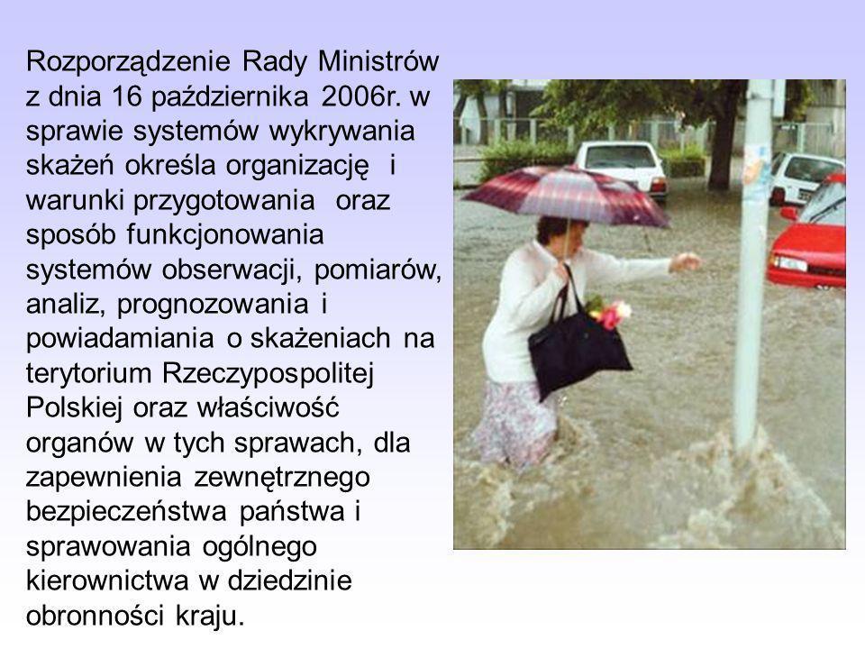Rozporządzenie Rady Ministrów z dnia 16 października 2006r