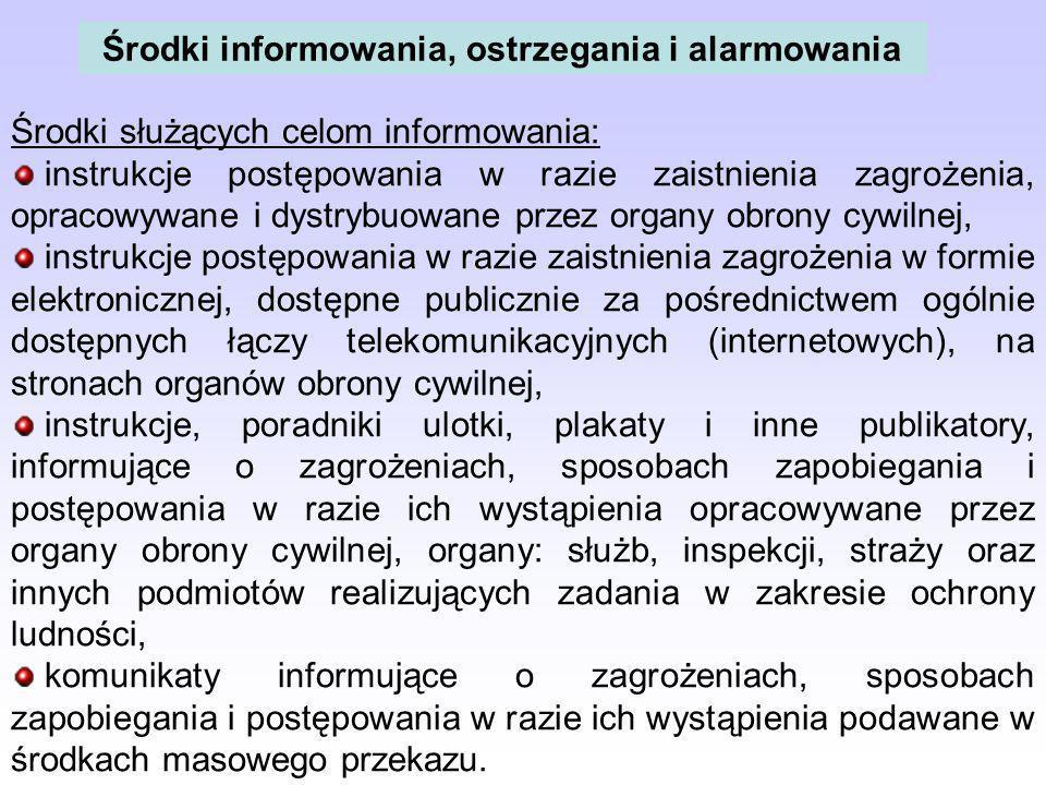 Środki informowania, ostrzegania i alarmowania