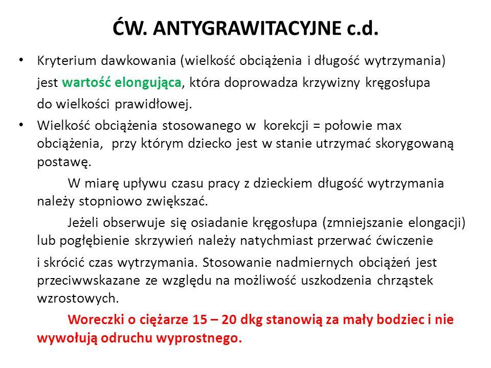 ĆW. ANTYGRAWITACYJNE c.d.