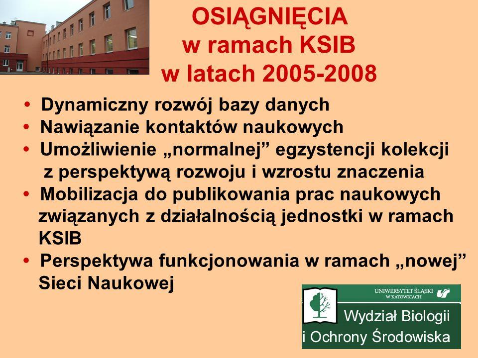 OSIĄGNIĘCIA w ramach KSIB w latach 2005-2008