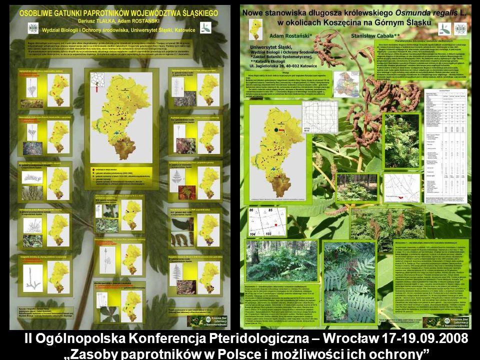 II Ogólnopolska Konferencja Pteridologiczna – Wrocław 17-19. 09