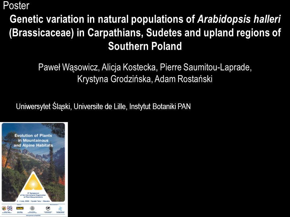Genetic variation in natural populations of Arabidopsis halleri