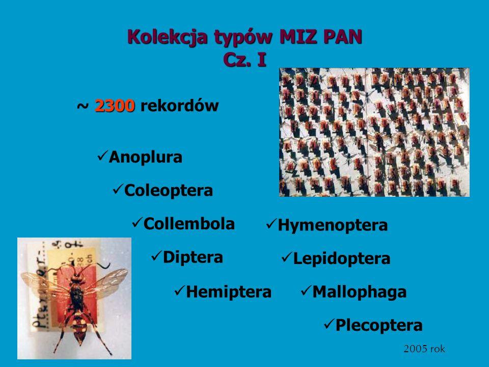 Kolekcja typów MIZ PAN Cz. I
