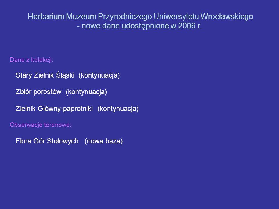 Herbarium Muzeum Przyrodniczego Uniwersytetu Wrocławskiego