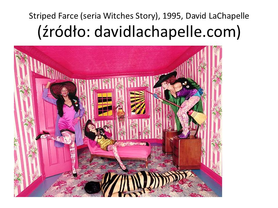 Striped Farce (seria Witches Story), 1995, David LaChapelle (źródło: davidlachapelle.com)