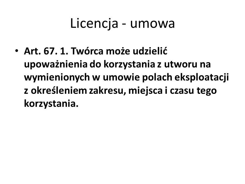 Licencja - umowa