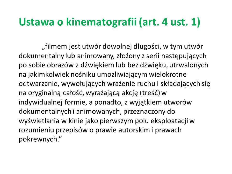 Ustawa o kinematografii (art. 4 ust. 1)