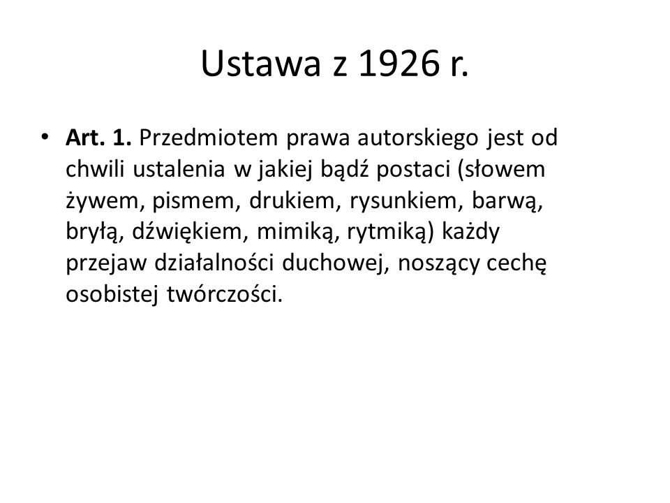 Ustawa z 1926 r.