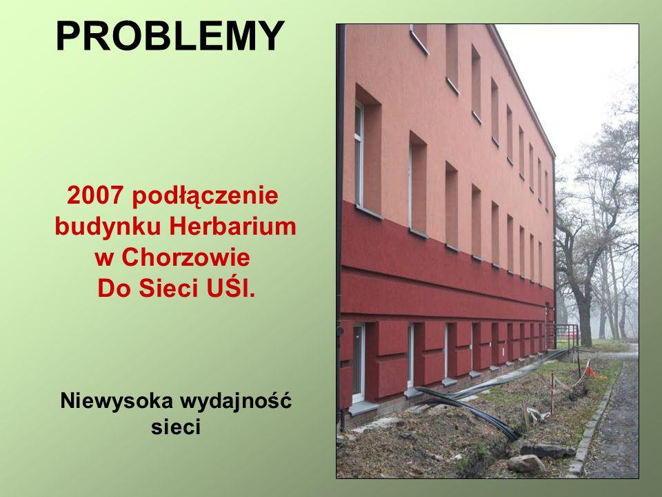 2007 podłączenie budynku Herbarium w Chorzowie